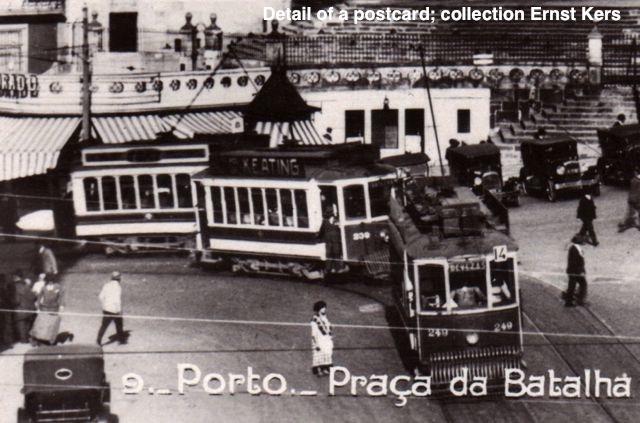 Le tram électrique de Porto dans les années 20