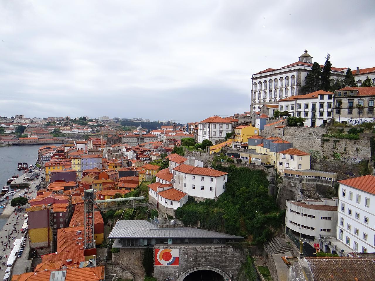 Vue du centre de Porto sur les bords du Douro vers l'est